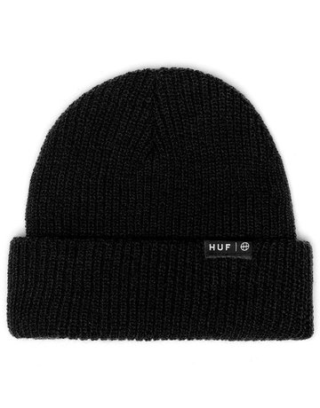 HUF ESSENTIALS USUAL BEANIE - BLACK