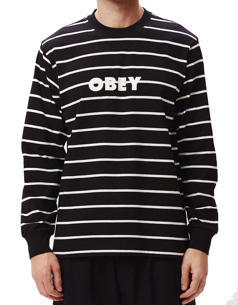 OBEY DIVISION TEE LS - BLACK MULTI