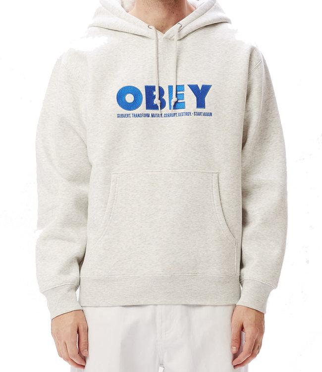 OBEY HUBBS HOOD - ASH GREY