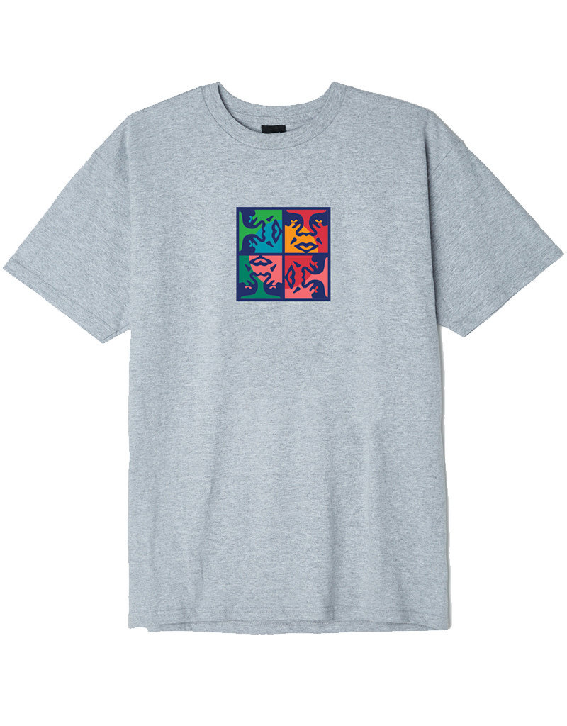 OBEY OBEY SQUARED UP - HEATHER GREY