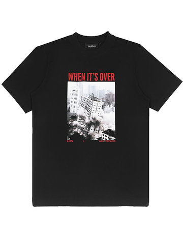 WASTED PARIS T-SHIRT OVER - BLACK
