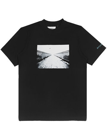 WASTED PARIS WASTED X KEVIN CUMMINS T-SHIRT POURING - RAIN BLACK