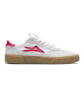 LAKAI CAMBRIDGE - WHITE/RED SUEDE
