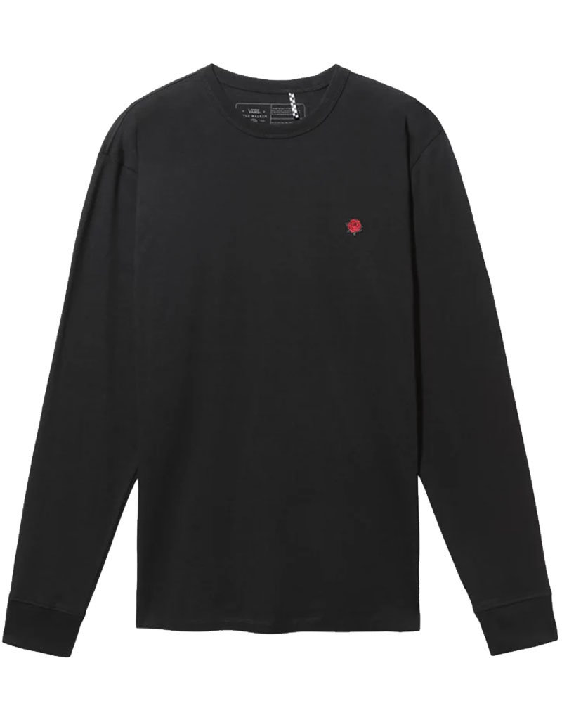 VANS X KYLE WALKER OFF THE WALL LS TEE - BLACK