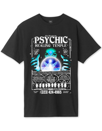 HUF PSYCHIC TEMPLE S/S TEE - BLACK