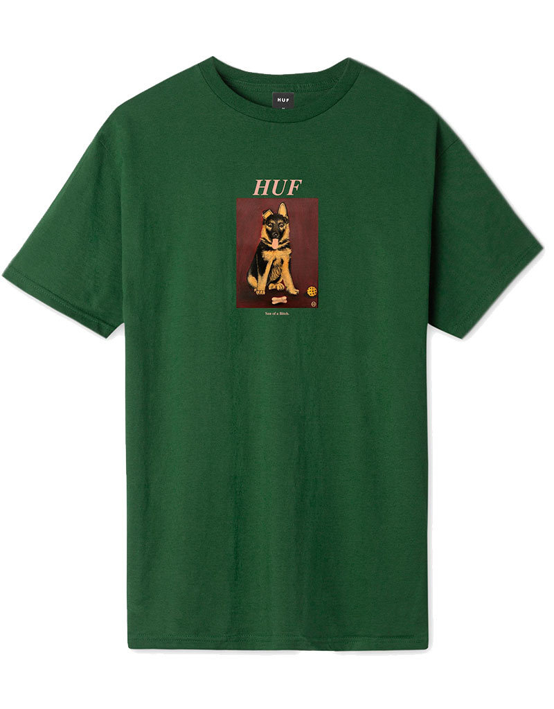 HUF GOOD BOY S/S TEE - FOREST GREEN
