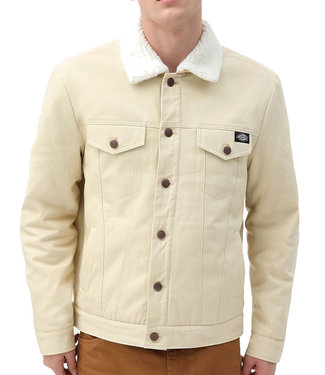 DICKIES MARKSVILLE TRUCKER JACKET - LIGHT TAUPE