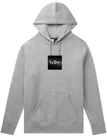 HUF VOYEUR BOX LOGO P/O HOODIE - GREY HEATHER