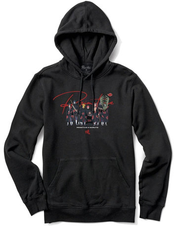 PRIMITIVE AKATSUKI CLAN HOOD - BLACK