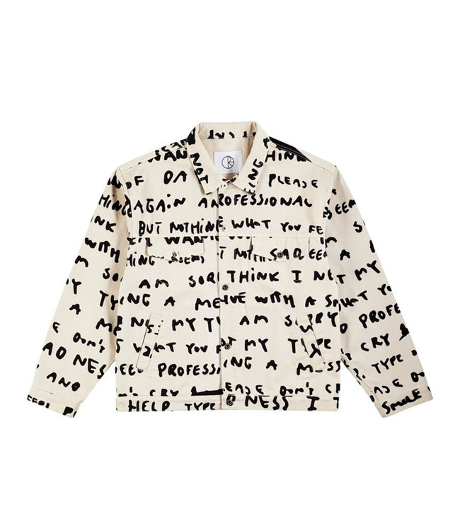 POLAR JEANS JACKET SAD NOTES - IVORY