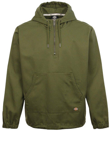 DICKIES KEVIL HALF ZIP HOODY - ARMY GREEN