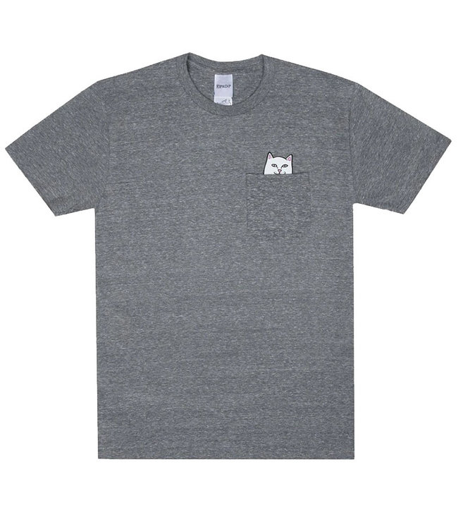 RIPNDIP LORD NERMAL POCKET TEE - HEATHER GREY