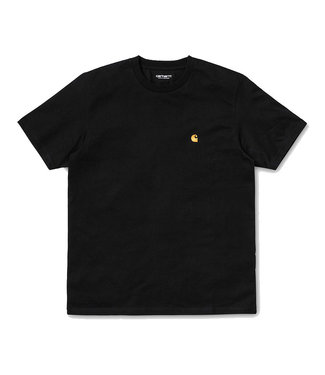 CARHARTT S/S CHASE T-SHIRT - BLACK/GOLD