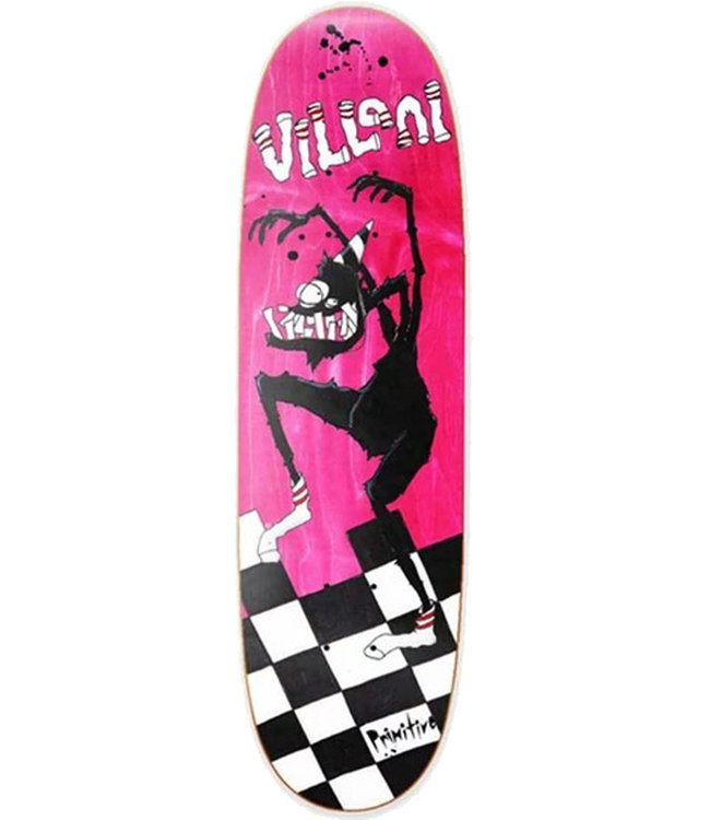 PRIMITIVE VILLANI SOCK MONSTER DECK PINK - 9.125