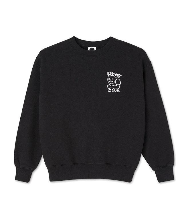 POLAR BIG BOY CLUB CREWNECK  - BLACK