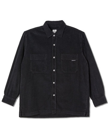 POLAR CORD SHIRT  - BLACK