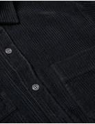 POLAR CORD SHIRT  - BLACK