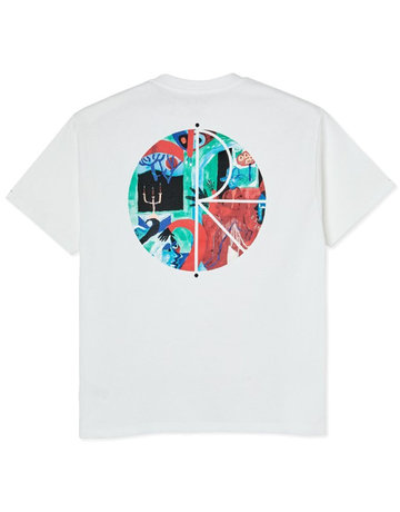 POLAR MOTH HOUSE FILL LOGO TEE  - WHITE