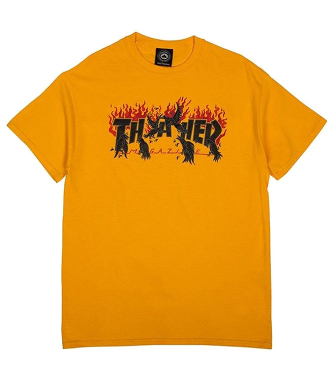 THRASHER CROWS S/S TEE - GOLD