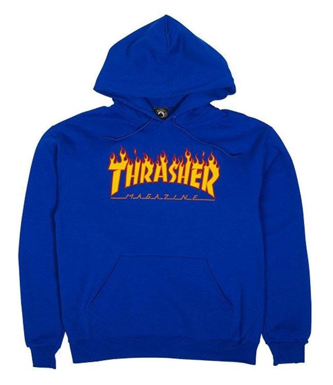THRASHER FLAME HOOD - ROYAL