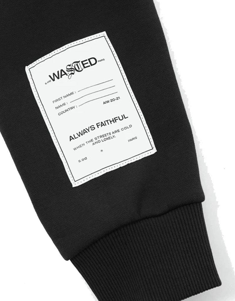 WASTED PARIS WM ESSENTIAL CROP HOODIE - BLACK