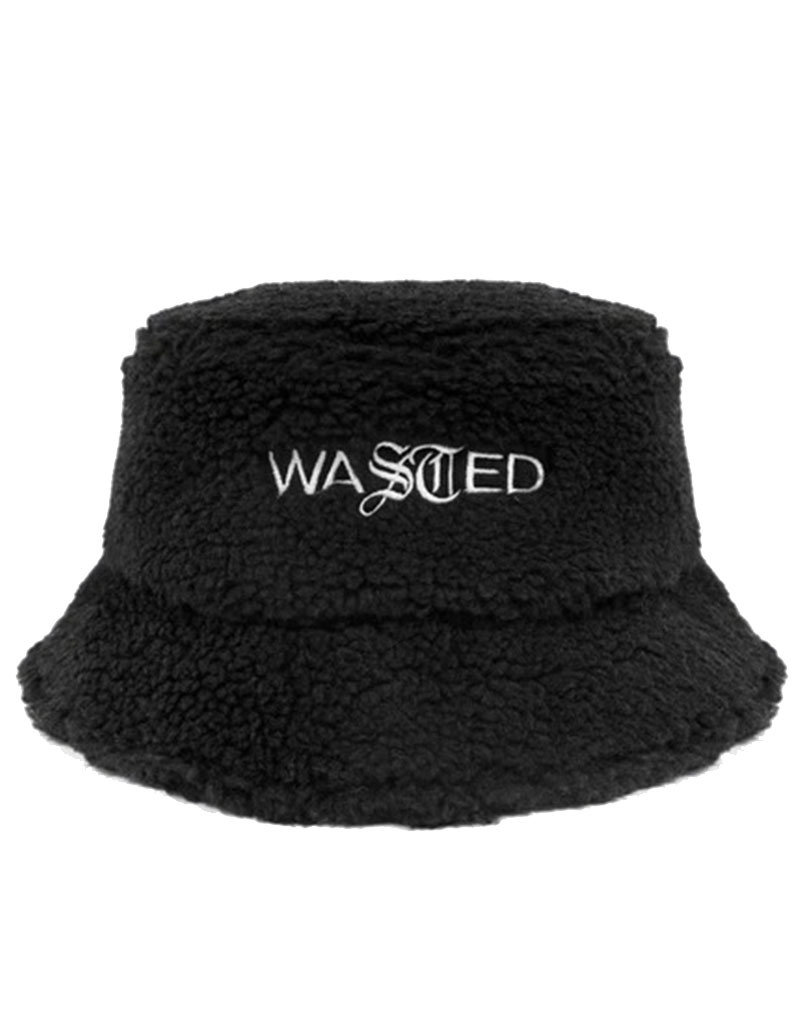 WASTED PARIS BUCKET HAT SHERPA - BLACK