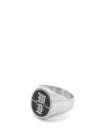 WASTED PARIS SIGNATURE RING - SILVER/BLACK