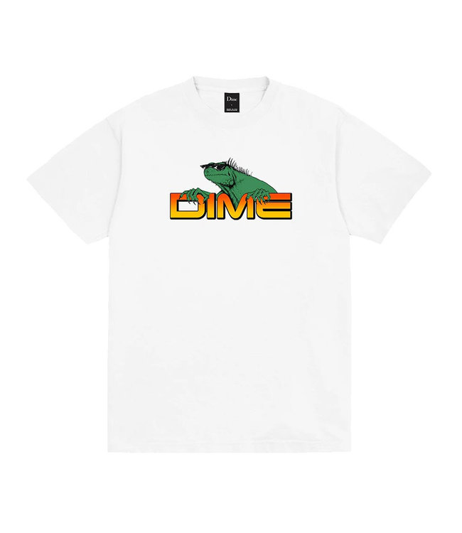 DIME LIZARD TEE - WHITE