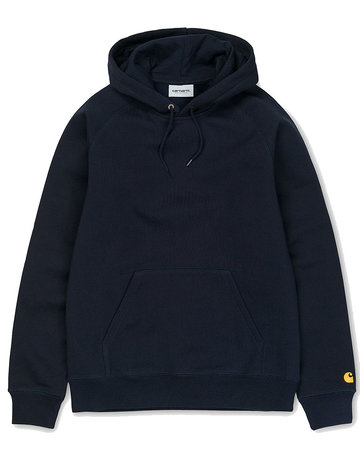CARHARTT HOODED CHASE SWEAT - DARK NAVY/GOLD