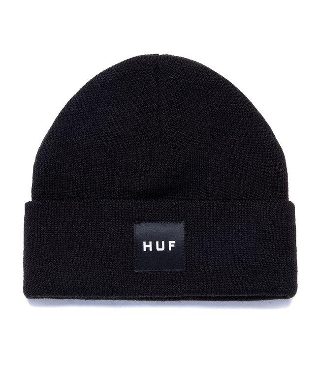 HUF ESSENTIALS BOX LOGO BEANIE - BLACK