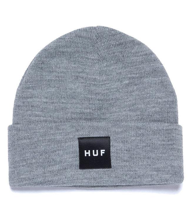 HUF Essentials Box Logo Beanie - Grey Heather