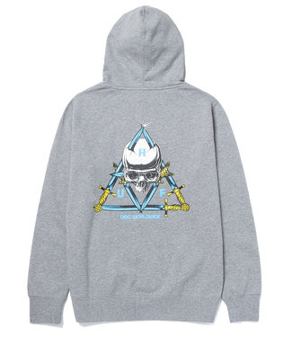 HUF BLVD TT P/O HOODIE - GREY HEATHER