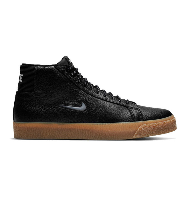 NIKE SB BLAZER MID PRM - BLACK/WHITE-BLACK-GUM LIGHT BROWN