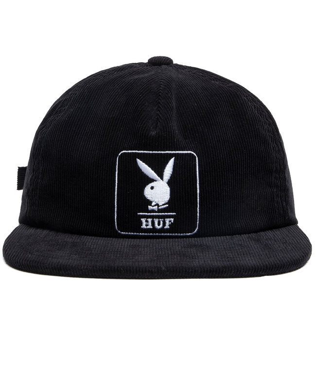 HUF PLAYBOY CORDUROY 5 PANEL - BLACK