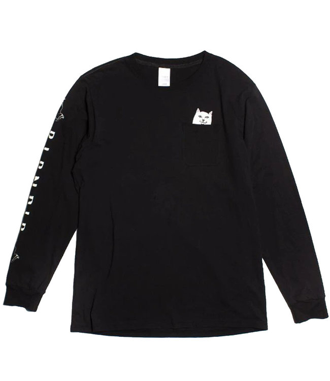 RIPNDIP LORD NERMAL POCKET LONG SLEEVE - BLACK