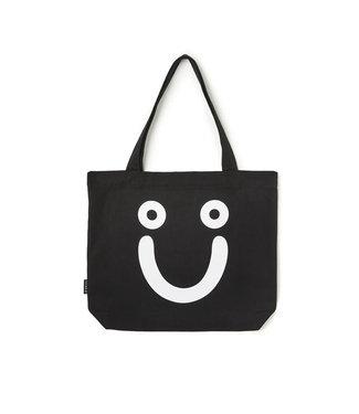 POLAR HAPPY SAD TOTE BAG - BLACK