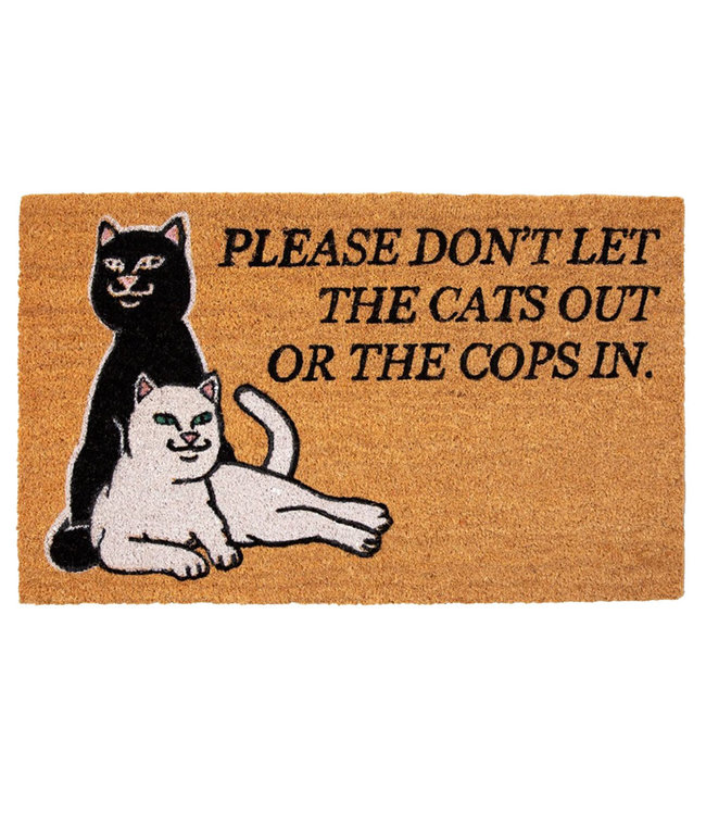 RIPNDIP DON'T LET THE COPS IN RUG - BROWN
