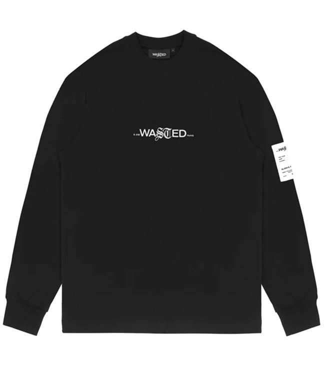 WASTED PARIS T-SHIRT LS FADED SIGNATURE - BLACK