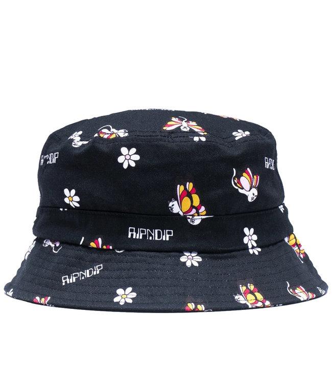 RIPNDIP BUTTERFLY BUCKET HAT - BLACK