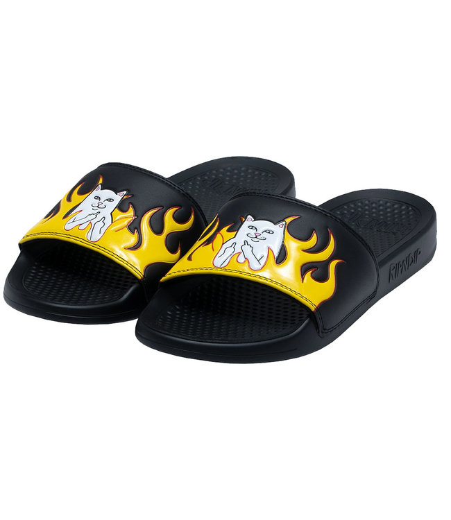 RIPNDIP WELCOME TO HECK SLIDES - BLACK