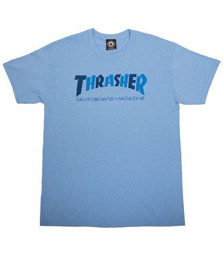 THRASHER CHECKERS T-SHIRT - CAROLINA BLUE