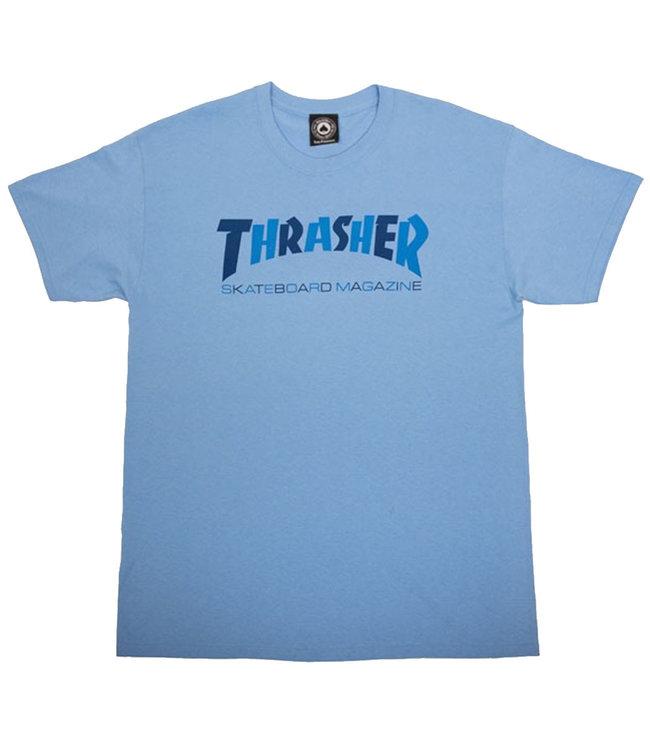 CHECKERS T-SHIRT - CAROLINA BLUE