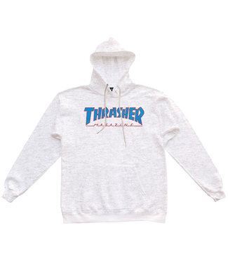 THRASHER OUTLINED HOOD - ASH GREY