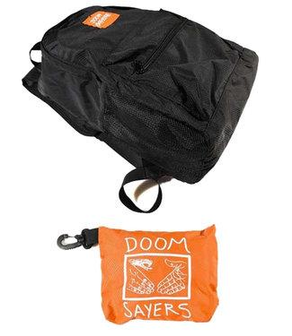 DOOM SAYERS PACKABLE TRAVEL BAG - BLACK/ ORANGE
