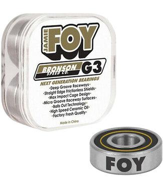 BRONSON SPEED CO. Jamie Foy Pro G3 Bearings - Black/Gold