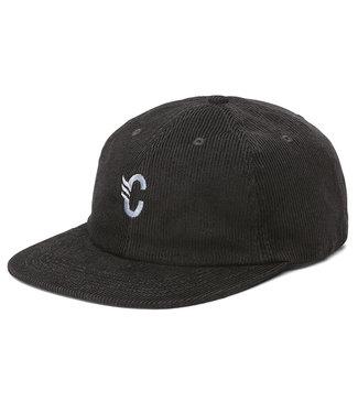 CORTINA C-LOGO CORDUROY CAP - BLACK