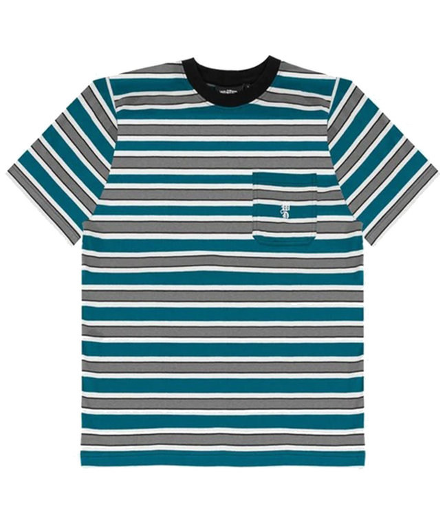 WASTED PARIS T-SHIRT STRIPES - GREEN DUCK