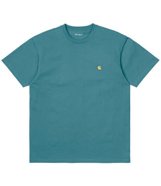 CARHARTT S/S CHASE T-SHIRT - HYDRO/GOLD