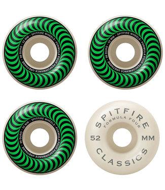 SPITFIRE FORMULA FOUR OG CLASSICS NATURAL/GREEN - 52MM 99A