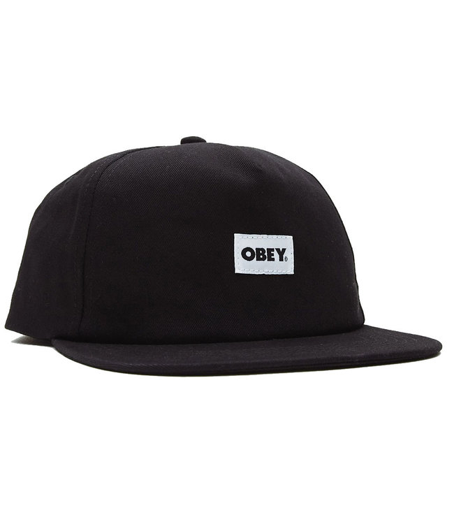OBEY BOLD LABEL ORGANIC SNAPBACK - BLACK